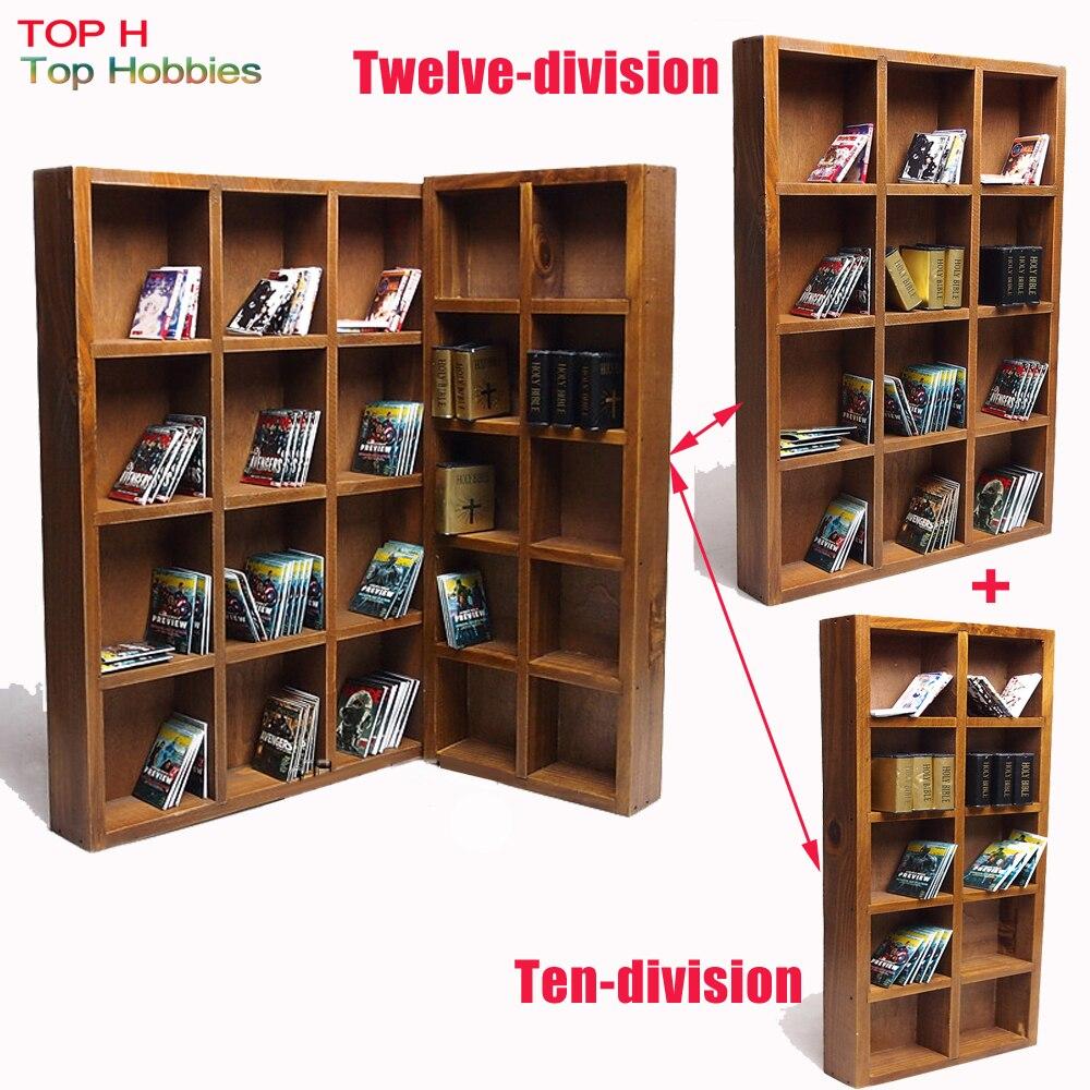 1/6 Soldier Model Scene dolls furniture accessories Ten-division bookcase combination can Townhouse Twelve vertical bookcase<br>