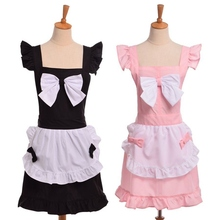 Japanese Bow Aprons Florist Shop Catering Uniforms Cute Baking Maid Apron Dress Cosplay