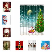 New Pop Christmas Funny Polyester Shower Curtain 3D High Definition Digital Witch Pumpkin Printing For Bathroom