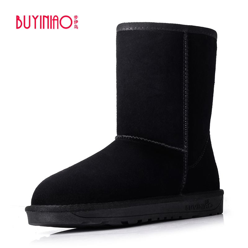 BUYINIAO Brand 2017 Plus Size Snow Boots Designer Women Winter Boots High Top Mid-calf Boots Good Quality Botas Mujer 41.42.43<br><br>Aliexpress