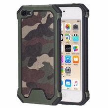 [Camouflage] 3-in-1 Impact Hard & Soft Silicone Hybrid Case For Apple iPod Touch 5 & iPod Touch 6 Armor Phone Cases iPod Touch 5(China)