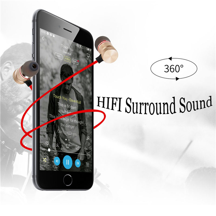Sweatproof Magnet Bluetooth Earphones With Mic for DOOGEE Homtom HT6 HT7 fone de ouvido