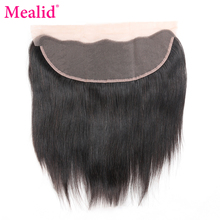 "[Mealid] Brazilian Straight Hair Lace Frontal Non-remy Natural Color 8""-20"" Human Hair Closure Free Shipping(China)"