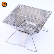 Thickening Foldable 430 Stainless Steel BBQ Charcoal Grill Outdoor Camping Portable Cooking Stove for Barbecue(China)