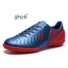 2017 New Sport Football Training Shoes for Men Kids Training Football Kids Sneakers Cheap Turf Trainers Leather Football Trainer(China)