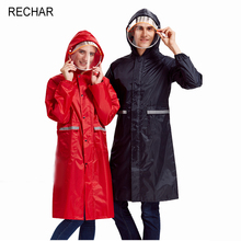 RECHAR Hot Sale Long one-piece adult men and women raincoats, a variety of color outdoor motorcycle raincoat(China)