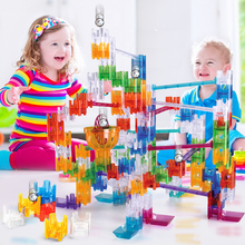 DIY Construction cube ball maze building Crystal blocks Marble Run Maze Balls Track amaze with cubes Educational toys for kids