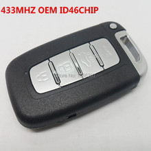 OEM Smart Remote key Keyless Entry Fob 4 Button for Kia Soul Sportage K2 K5 With ID46 Chip 433MHZ(China)