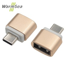 WarmSea USB C Adapter USB-C OTG Type C converter for Macbook Pro Xiaomi 5 5s 6 S8 Samsung Note 7 8 Oneplus 3 2(China)