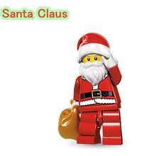 ZxZ Santa Claus Mini Dolls with a bag Single Sale  Christmas Building blocks Toys For Children X'mas Gift PG970