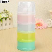 4 Layers Milk Powder Formula Dispenser Travel Baby Infant Feeding Container Mamadeira Convenient For Baby Or Kids Outside