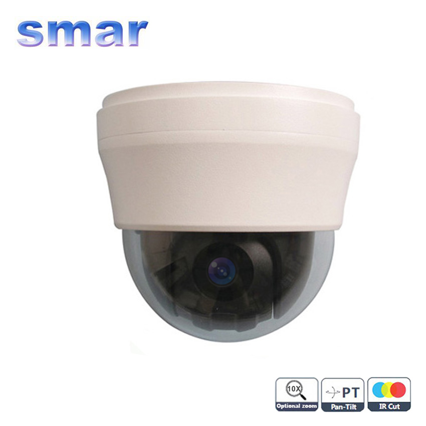 Lowest Price CCTV 700TVL Sony CCD Effio-e 10 X Optical Zoom Lens Vandalproof Mini PTZ Speed Dome Security Camera
