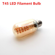ST64 A19 G80 G95 LED vintage lamp bulb spiral new design soft LED filament 4W Edison bulb commercial light bulb night lamp bulb
