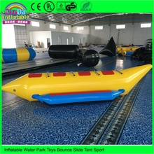 Professional Manufacturer Single Tube 4 Person Inflatable Banana Boat with Air Pump(China)