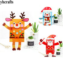 3PCS/Lot.DIY Christmas paper hand puppets craft kit Early educational toys Creative toys Kindergarten crafts Wholesale OEM(China)