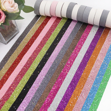 "5/8""16MM synthetic leather star sequins ribbon 5 yards,DIY handmade materials,wedding gift wrap,5Y49983"
