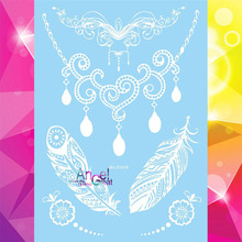 Pendants Jewelry Designs Fashion Temporary Tattoo Women BOdy Art Henna Nontoxic Tattoo Stickers - Sexy Tatoo Choker Necklace(China)