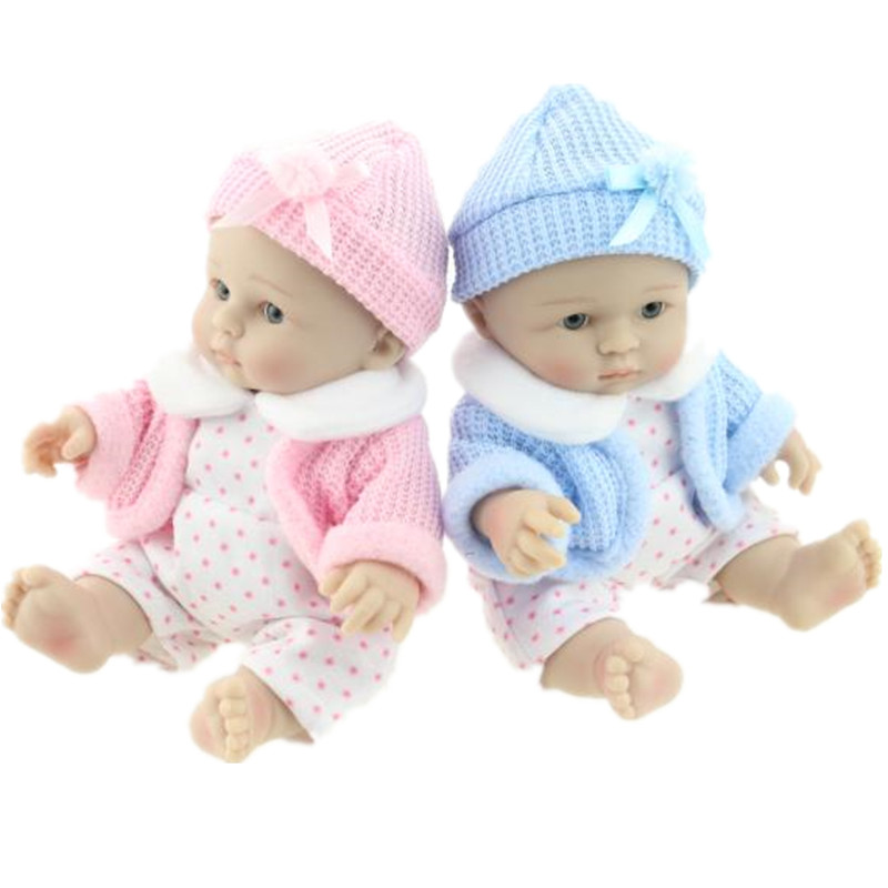 New Mini 25cm(10inch) Twin Hot Sale Lifelike Reborn Baby Doll Realistic Baby Dolls Christmas Gift for Girl Baby Toys Juguetes<br><br>Aliexpress