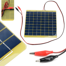 Buy 12V5W Solar Panel Outdoor Travel Camping Car Boat Portable DIY Solar Panel Battery Charger Power Bank Alligator Clips for $11.00 in AliExpress store