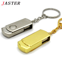 JASTER USB Flash Drive 64GB Metal Pendrive photography  USB Memory Stick 32GB pen Drive Real Capacity 16GB USB Flash U disk