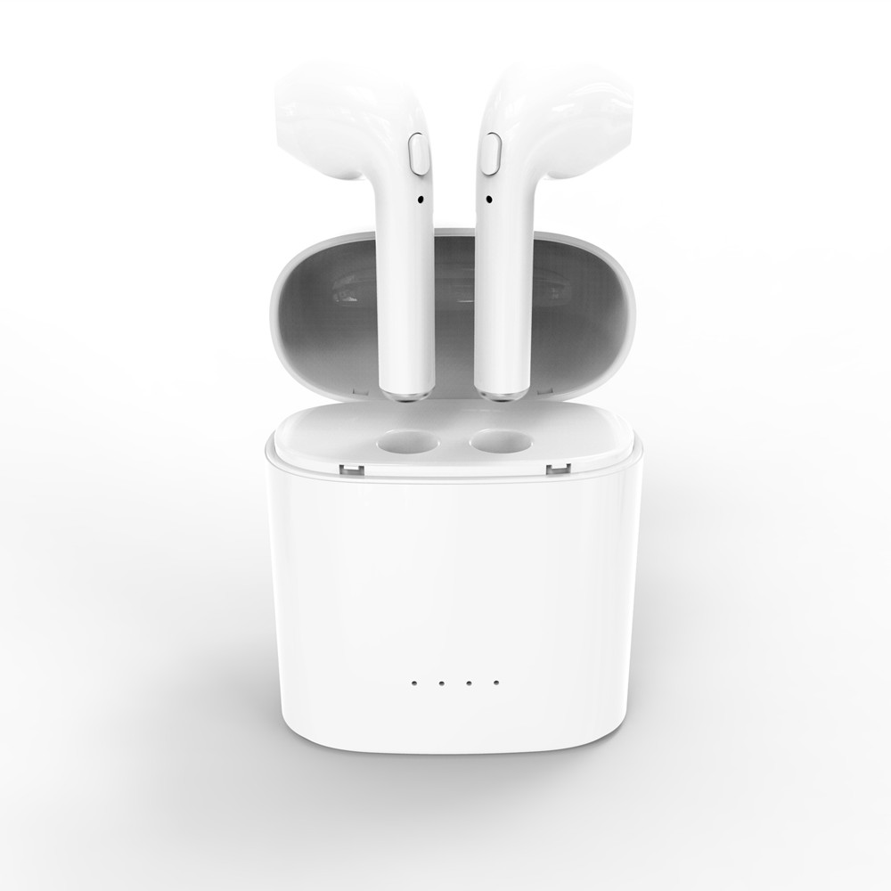 New Double Ear mini bluetooth Headsets Earbuds wireless Headphones not Air Earphone Earpiece Pods for apple iphone Android(China)