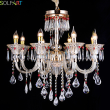 SOLFART Chandelier Lighting Modern Lustre Crystal CE UL Pendant For Chandeliers Heracleum K9 Crystal Chandelier(China)