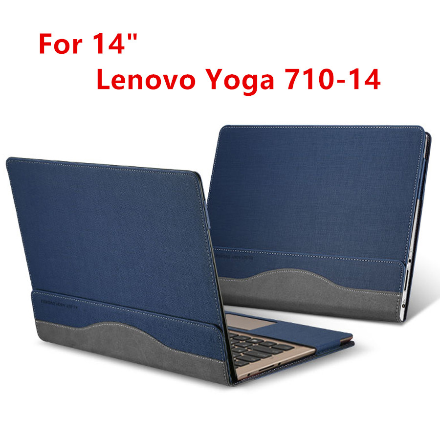 Creative Design Laptop Cover For 14 Inch Lenovo Yoga 710 Sleeve Case PU Leather Protective Skin For Yoga 710-14 Stylus As Gifts<br>