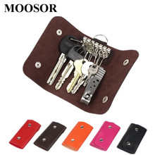 2017 Women Men Hot Sale Quality Fashion Solid Key Organizer 6 Colors Key Wallets Bag Car Keychain Housekeeper Key Holders W015