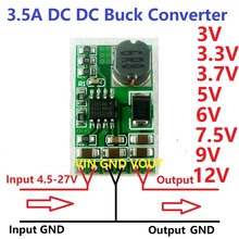 3.5A DC-DC Converter Module Buck Step-Down Voltage Regulator Board 4.5V-27V to 3V 3.3V 3.7V 5V 6V 7.5 9V 12V(China)