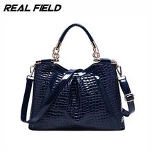 Real Field RF Brand Alligator Leather Women Tote Handbag Bolsas Fashion Hobos Shoulder Messenger Bag Ladies  Femininas Sac 188