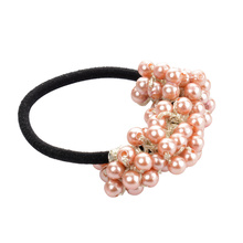 Vintage Girls Ring Pearl Headwear Band Rubber Ties Accessories Elastic Hair Rope(China)
