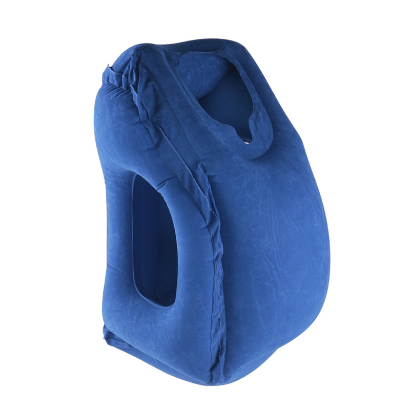 2017 hot sale Multi-function Inflatable Woollip travel outdoor pillow Inflatable Travel on Airplane outdoor Pillow Cushion mat (1)