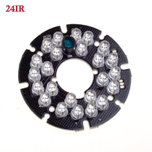 GADINAN Wholesale 24pcs IR LED board 5mm Infrared cctv  LEDS board for CCTV cameras night vision (diameter 54mm)