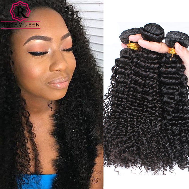 Rosa Queen Hair Products 4Pcs Malaysian Kinky Curly Virgin Hair 7A Malaysian Curly Weave Human Hair Malaysian Weave Bundles  <br><br>Aliexpress