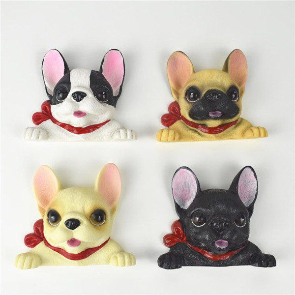 French Bulldog cute puppy dogs resin switch stickers fridge magnets - 2