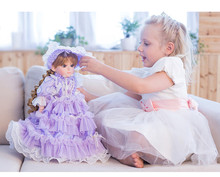 Children girl talking doll toys 12 joint body princess doll with fashion clothes girls birthday gift bonecas(China)