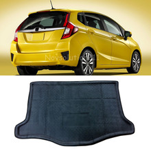 Black Protection Rear Cargo Liner Trunk Mat For Honda Fit Jazz 2014-2016