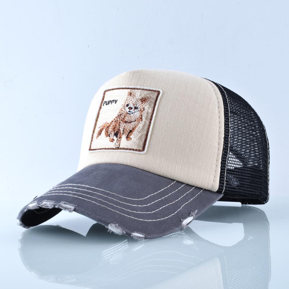 Fashion Unisex Patch Bones Wolf Embroidery Hip Hop Hats Breathable Mesh Baseball Caps Men Women Casquette Summer Trucker Gorras 11