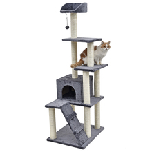 Heavy Cat Toy Scratching Wood Climbing Tree Cat Jumping Toy with Ladder Climbing Frame Cat Furniture Scratching Post(China)