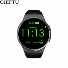 GIEFTU KW18 Bluetooth SIM Card Smart Watch MTK2502C Full Screen Clock Smartwatch with Heart Rate Monitor for mobile phone