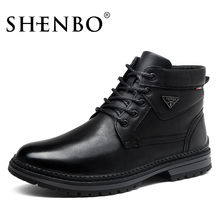 SHENBO New Style Fashion Winter Boots,Black Ankle Boots,Popular Lace Up Men Boots(China)