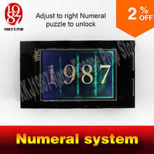 the numeral system room escape prop touching digital prop JXKJ1987 Room escape game prop adjust number passwpord to unlock