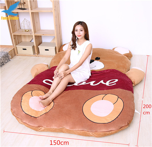 Fancytrader 2018 Giant Plush Stuffed Cartoon Love Bear Sofa Bed Sleeping Bed with Padding 2 Sizes (9)