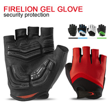 FIRELION Summer Gel Half Finger Cycling Gloves For Men Women MTB BMX Riding Off Road Downhill DH Gloves Mountain Bicycle Gloves