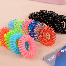Colorful 2.5CM small size telephone wire hairbands hair tie or braclet/bangle-party for girls