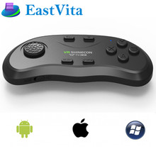 EastVita Bluetooth Remote Controller VR Shinecon Wireless Gamepads Mouse Music Selfie 3D Games for iOS Android PC TV ar25