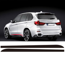 3 Colors M Sport Performance for BMW X5 F15 F85 2014-2016 Side Skirt Stickers Racing Stripe
