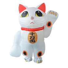 Giant Lucky Cat Inflatable Animal Toys Christmas Brithday Party Props Yard Outdoor Blow Up Decoration For Hotel Supper Market(China)