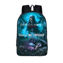 Heavy Metal Band Avenged Sevenfold Fashion Men Women Backpack Nightmare Skull Bag Teen School Bags Cool Travel Bags student bag