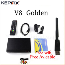 freesat v8 golden 3pcs receptor de satelite dvb-s2+c+t2 youtube powervu iptv satellite receiver freesat v8 pro(China)